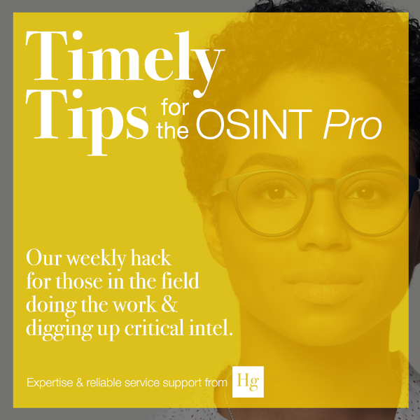 OSINT Tips